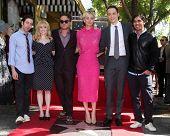 LOS ANGELES - OCT 29:  Big Bang Theory Cast at the Kaley Cuoco Star on the Hollywood Walk of Fame at the Hollywood Blvd on October 29, 2014 in Los Angeles, CA