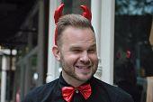 halloween red devil in new york city 2014