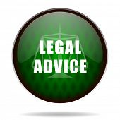 legal advice green internet icon