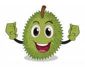 illustration of a durian with arms