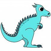 Blue cute dinosaur