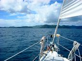 Bow of Sailboat in the BVI