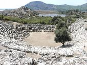 Roman amphitheater in the ancient Caunos.
