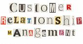 Customer Relationship Management, Cutout Newspaper Letters