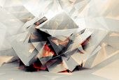 Abstract Digital 3D Chaotic Polygonal Background Texture