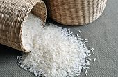 Baskets of rice