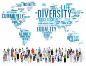 stock photo of racial diversity  - Diversity Ethnicity World Global Community Concept - JPG