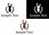 image of deer meat  - the Illustration dedicated to the logo with deer - JPG