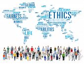 pic of moral  - Ethics Ideals Principles Morals Standards Concept - JPG