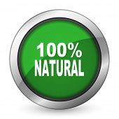 foto of 100 percent  - natural green icon 100 percent natural sign  - JPG