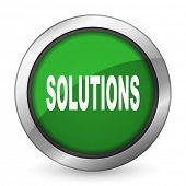 pic of solution  - solutions green icon   - JPG