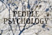 image of psychological  - Expression of  complexity of people psychology with text on shadowed wall - JPG