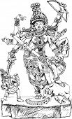 pic of demons  - Hindu God winning the battle with demons - JPG