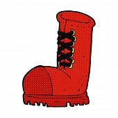 picture of work boots  - retro comic book style cartoon old work boot - JPG