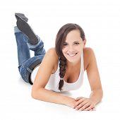 stock photo of scandinavian descent  - Attractive teenage girl - JPG