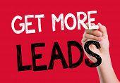 foto of clientele  - Get More Leads written on the wipe board - JPG