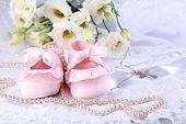 image of christening  - Baby shoe - JPG