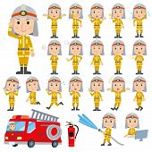 pic of fireman  - Set of various poses of The fireman - JPG