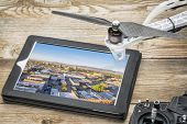 stock photo of collins  - drone aerial photography concept  - JPG