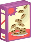 image of bakeshop  - Illustration of a Box of Chocolate Chip Cookies - JPG