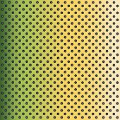 picture of grating  - Concept conceptual green abstract metal stainless steel aluminum perforated pattern texture mesh background as metaphor to industrial - JPG