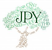 foto of yen  - Jpy Currency Showing Japan Yen And Word - JPG