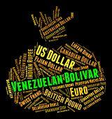 image of bolivar  - Venezuelan Bolivar Indicating Forex Trading And Foreign - JPG