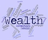 picture of prosperity  - Wealth Word Represents Wealthy Prosperous And Rich - JPG