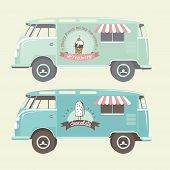 image of ice-cream truck  - Vector ice cream truck - JPG