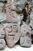 foto of stone sculpture  - Lava stone sculpture of a stylised man - JPG