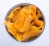 pic of mango  - mango dry in bowl or dried mango slices - JPG
