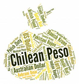 picture of pesos  - Chilean Peso Indicating Currency Exchange And Pesos - JPG