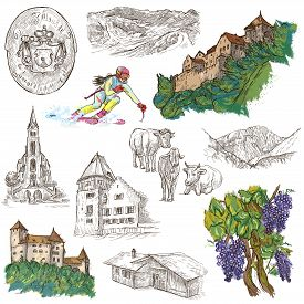 foto of freehand drawing  - Travel series - JPG