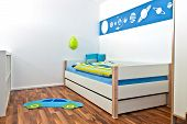 Children's playroom with bed