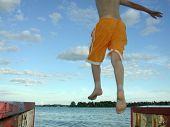 Jumping Off Dock_