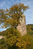 Ruined Tower In Autumn