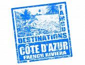 Cote d ' Azur-Stamp