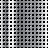 image of semi-circle  - Vector vertically repeatable metal grid - JPG
