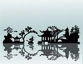 Vector Asian Landscape