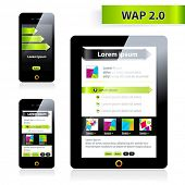 Wap 2.0 optimized two sizes biggest and smallest,  vector site.
