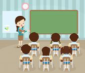 Students In Classroom poster