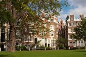 17th century houses in the beguinage of Amsterdam