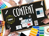 Content Marketing, Online Concept , Content Data Blogging Media Publication Content Marketing , Cont poster