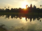 picture of mahabharata  - Sunrise on the imperial old khmer city  - JPG