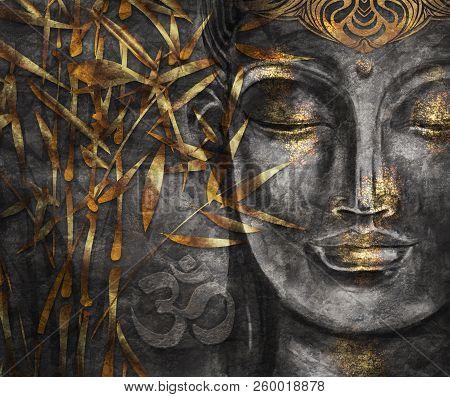 Bodhisattva Buddha Digital Art Collage