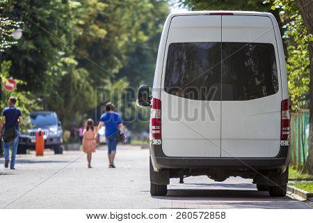 Back View Of White Passenger