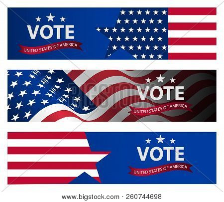 Presidential Election Banner Background Us
