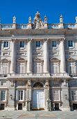 Entrance in  Royal Palace. Palacio de Oriente, Madrid landmark, Spain. poster
