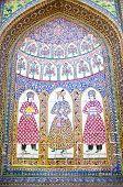 stock photo of shiraz  - Antique tiled mosque wall  in Shiraz - JPG