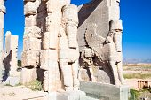 Entrance gate to historical complex, ancient city of Persepolis, Iran